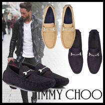 Jimmy Choo Driving Shoes Suede Street Style Plain Loafers & Slip-ons
