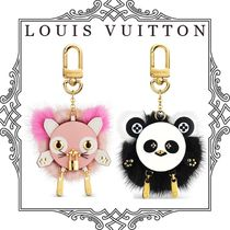Louis Vuitton Fur Blended Fabrics Chain Other Animal Patterns With Jewels