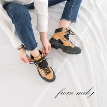 Mountain Boots Round Toe Casual Style Faux Fur Street Style