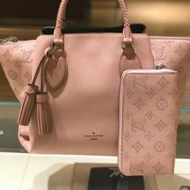 Louis Vuitton MAHINA Monogram Blended Fabrics A4 3WAY Leather Elegant Style Totes