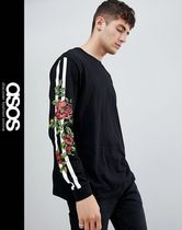 ASOS Crew Neck Flower Patterns Long Sleeves Long Sleeve T-Shirts
