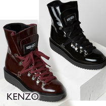 KENZO Mountain Boots Casual Style Unisex Blended Fabrics
