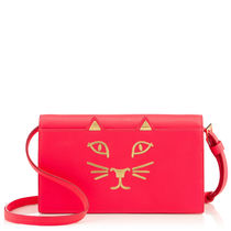 Charlotte Olympia 2WAY Plain Other Animal Patterns Leather Shoulder Bags