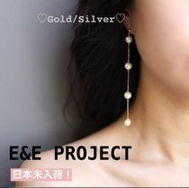 E and E PROJECT Chain Silver Elegant Style Earrings & Piercings