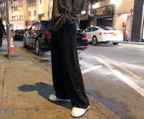 Blended Fabrics Street Style Cotton Oversized Pants