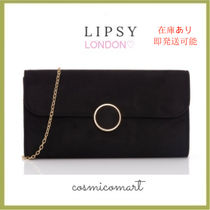 Lipsy Suede 2WAY Chain Plain Party Style Party Bags