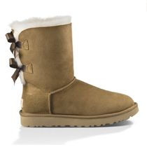 UGG Australia MINI BAILEY BOW Casual Style Sheepskin Plain Flat Boots