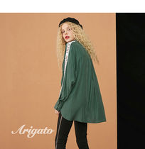 ELF SACK Casual Style Street Style Long Sleeves Long Oversized