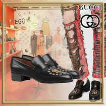 GUCCI Loafers Plain Leather Loafers & Slip-ons