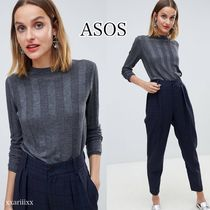 ASOS Casual Style Cashmere Long Sleeves Plain High-Neck Cashmere