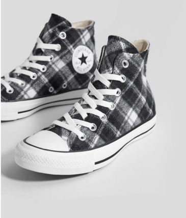Tartan Other Check Patterns Collaboration Low-Top Sneakers