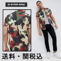 G-Star Camouflage Cotton Short Sleeves Shirts