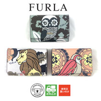 FURLA Other Animal Patterns Leather Card Holders