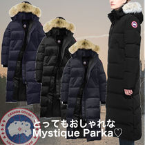 CANADA GOOSE MYSTIQUE Fur Long Down Jackets