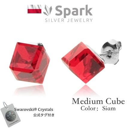 Spark Casual Style Silver Earrings