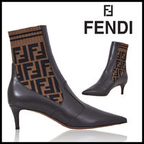FENDI Monogram Blended Fabrics Bi-color Leather Pin Heels