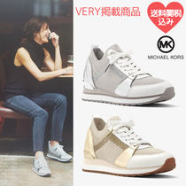 Michael Kors Round Toe Rubber Sole Plain Elegant Style Low-Top Sneakers