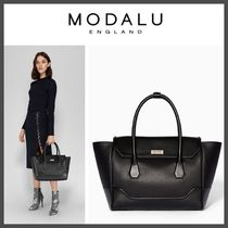Modalu Plain Leather Office Style Totes