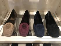 Tory Burch Square Toe Casual Style Suede Plain Flats