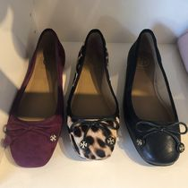 Tory Burch Round Toe Casual Style Suede Plain Flats