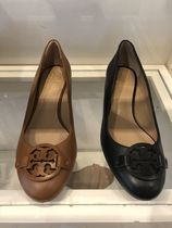 Tory Burch Casual Style Plain Leather Wedge Pumps & Mules