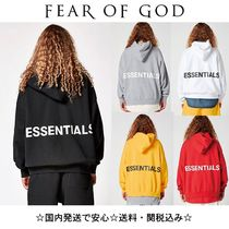 FEAR OF GOD ESSENTIALS Unisex Street Style Collaboration Oversized Hoodies