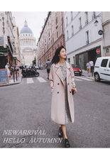 Stand Collar Coats Plain Long Trench Coats