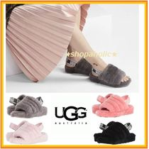 UGG Australia Open Toe Sheepskin Plain Sandals