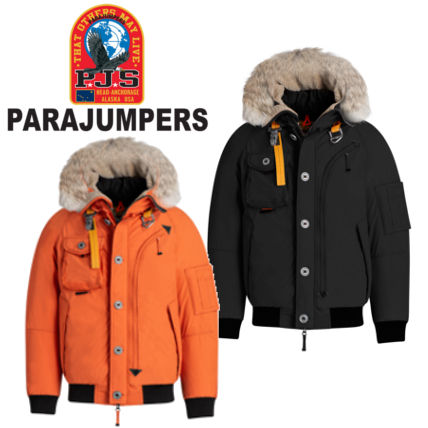 ... PARAJUMPERS Bomber Short Fur Street Style Plain MA-1 Oversized Bomber Jackets ...