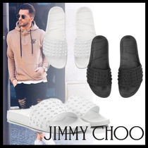 Jimmy Choo Star Street Style Plain Shower Shoes Shower Sandals