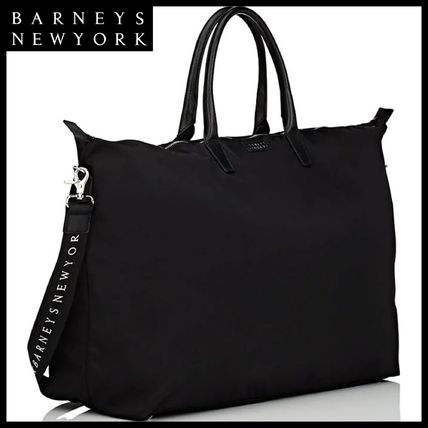 Unisex Nylon Street Style A4 2WAY Plain Boston Bags