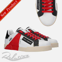 Dolce & Gabbana Street Style Bi-color Leather Sneakers