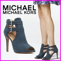 Michael Kors Open Toe Suede Plain Pin Heels Ankle & Booties Boots