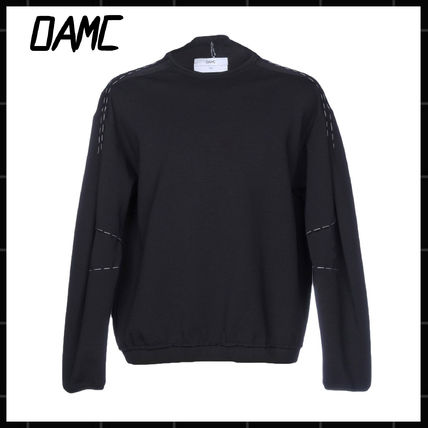 Pullovers Long Sleeves Plain Cotton Sweatshirts