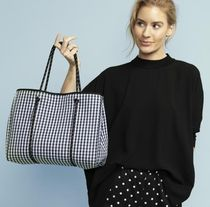 willow bay Gingham Casual Style Bag in Bag A4 Oversized Totes