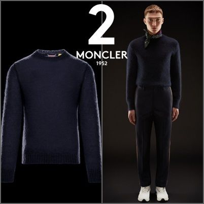 MONCLER Knits & Sweaters Collaboration Long Sleeves Plain Knits & Sweaters