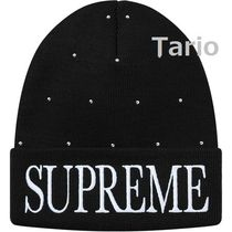 Supreme Unisex Studded Street Style Hats