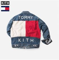 Tommy Hilfiger Unisex Denim Street Style Collaboration MA-1 Bomber Jackets