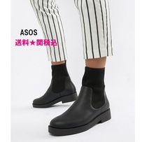 ASOS Round Toe Casual Style Faux Fur Blended Fabrics Plain