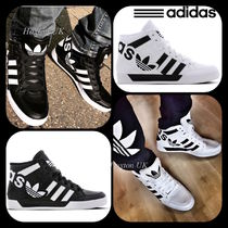 adidas HARDCOURT Street Style Bi-color Leather Sneakers