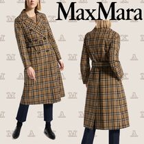 MaxMara Other Check Patterns Casual Style Long Trench Coats