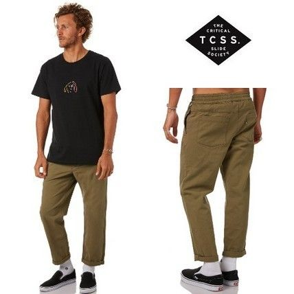 Tapered Pants Street Style Cotton Tapered Pants
