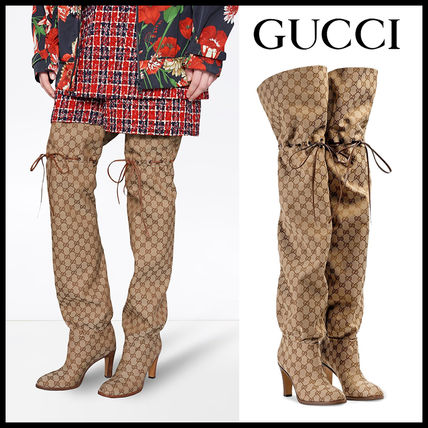 2e0a7dc8c GUCCI 2018-19AW Monogram Elegant Style Over-the-Knee Boots by citlon ...