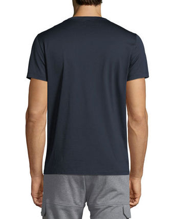 MONCLER Crew Neck Crew Neck Pullovers Unisex Plain Cotton Short Sleeves 8
