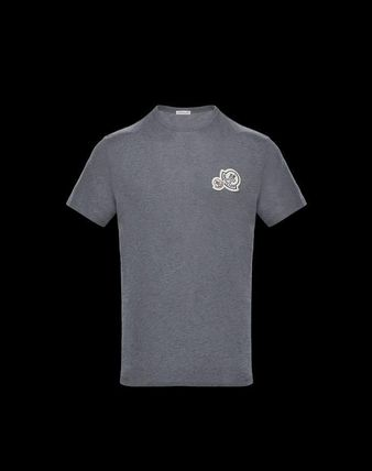 MONCLER Crew Neck Crew Neck Pullovers Unisex Plain Cotton Short Sleeves 13