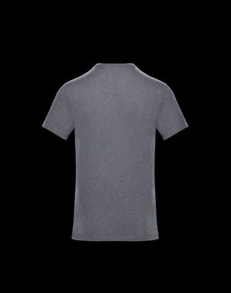 MONCLER Crew Neck Crew Neck Pullovers Unisex Plain Cotton Short Sleeves 14