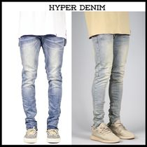 HYPER DENIM Street Style Plain Cotton Skinny Fit Jeans & Denim