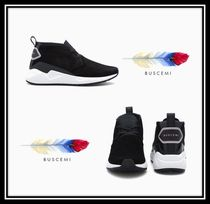 BUSCEMI Suede Blended Fabrics Plain Sneakers