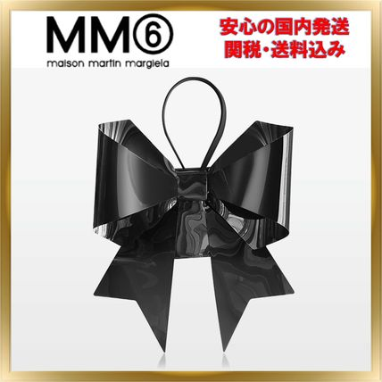 2WAY Plain Party Style PVC Clothing Crossbody Shoulder Bags