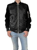DIESEL Blended Fabrics Leather MA-1 Bomber Jackets